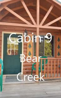 STANDARD CABIN # 9 - $115/ 2 people, $15 each additional – (Bear Creek) 1 full bed, 1 full size futon, loft w/mattress. Kitchenette w/ small fridge/microwave/coffee maker, deck.