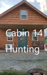 RUSTIC CABIN # 14 - $150/ 2 people, $15 each additional – (Hunting themed) 1 queen bed, 2 super twins in loft, twin futon, fold-out single cot. Full size fridge/microwave. Deck. – No indoor plumbing. New shower house w/public laundry/ice only 5' away. Pet friendly*.